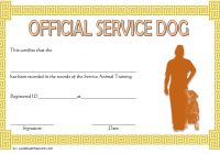 Training Completion Certificate Template for Dog Service 2