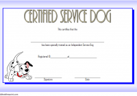 Training Completion Certificate Template for Dog Service 3