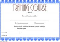 Training Course Certificate Template 1