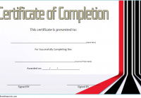 Training Course Certificate Template 10