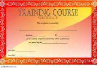 Training Course Certificate Template 2