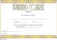 Training Course Certificate Template 3