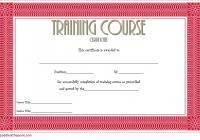 Training Course Certificate Template 4