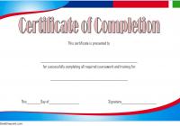 Training Course Certificate Template 5