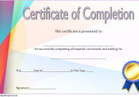 Training Course Certificate Template 6