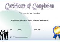 Training Course Certificate Template 7
