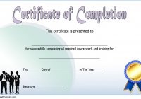 Training Course Completion Certificate Template 2