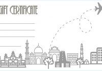 Travel Gift Certificate Template 1