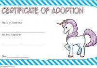 Unicorn Adoption Certificate Template 1