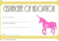Unicorn Adoption Certificate Template 2