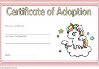 Unicorn Adoption Certificate Template 3
