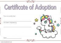 Unicorn Adoption Certificate Template 4