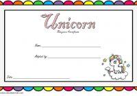 Unicorn Adoption Certificate Template 6