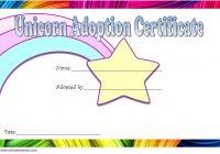 Unicorn Adoption Certificate Template 7