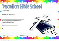 VBS Attendance Certificate Template 1