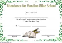 VBS Attendance Certificate Template 5