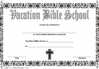 VBS Certificate Template 4