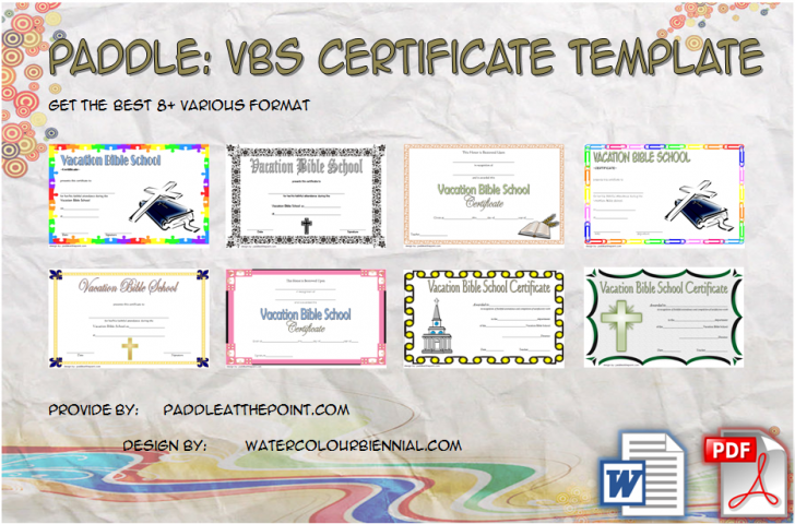 Permalink to VBS Certificate Template – 8+ Latest Designs FREE DOWNLOAD