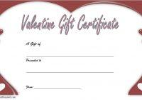 Valentine Gift Certificate Template 2