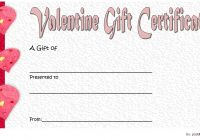 Valentine Gift Certificate Template 3