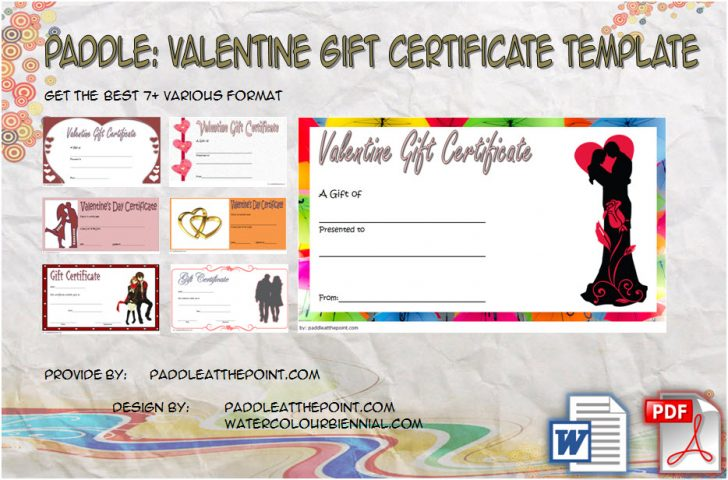 Permalink to Valentine Gift Certificate Template