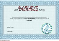 Volleyball Award Certificate Template Free 1