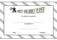 Volleyball Award Certificate Template Free 6