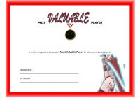 Volleyball Award Certificate Template Free 8