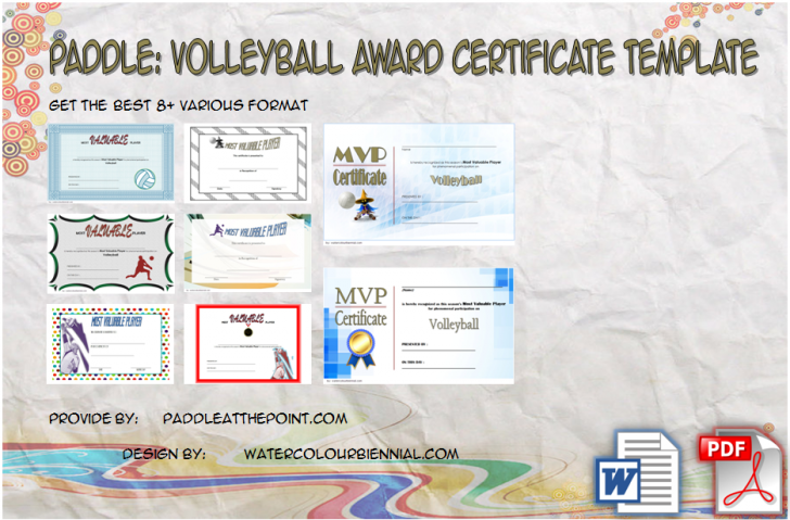 Permalink to Volleyball Award Certificate Template Free: 8+ MVP Designs