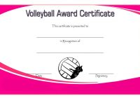Volleyball Certificate Template 1