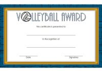 Volleyball Certificate Template 2