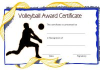 Volleyball Certificate Template 3