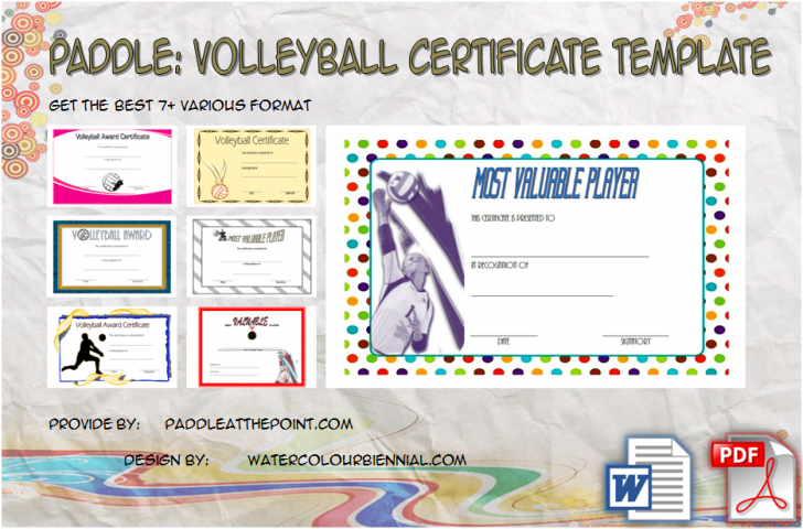 Permalink to Volleyball Certificate Template Free – 7+ Best Design Ideas