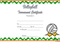 Volleyball Tournament Certificate Template 1