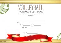 Volleyball Tournament Certificate Template 3