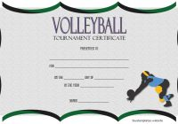 Volleyball Tournament Certificate Template 4