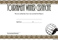 Volleyball Tournament Certificate Template 6