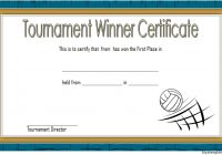Volleyball Tournament Certificate Template 8