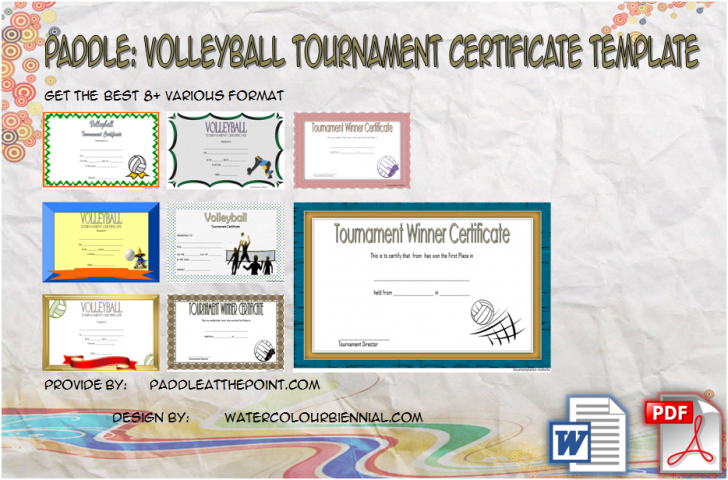Permalink to Volleyball Tournament Certificate – 8+ Epic Template Ideas