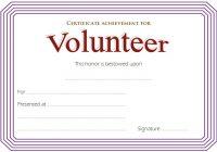 Volunteer Achievement Certificate Template 2