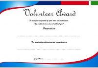 Volunteer Award Certificate Template 2