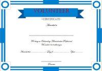 Volunteer Award Certificate Template 4