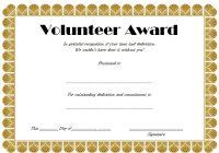 Volunteer Award Certificate Template 5