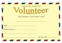 Volunteer Award Certificate Template 6