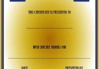 Volunteer Certificate Template