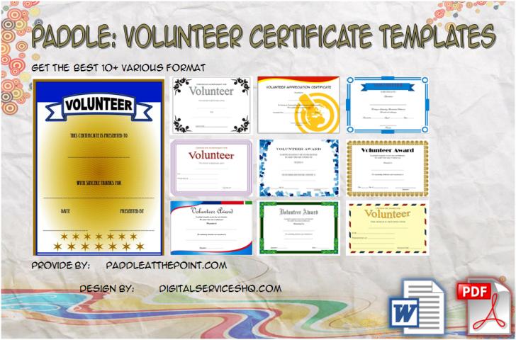 Permalink to Volunteer Certificate Templates