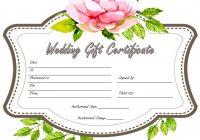 Wedding Gift Certificate Template 1