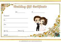 Wedding Gift Certificate Template 3