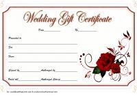Wedding Gift Certificate Template 4