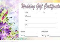 Wedding Gift Certificate Template 5